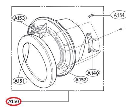 Obrázek Originální komplet dveří ADC73047703 pro pračku LG