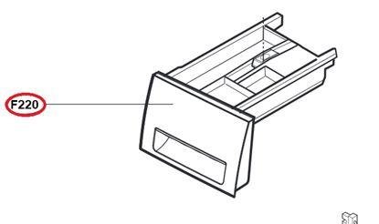 Obrázek Originální šuplík násypky AGL74433914 pro pračku LG
