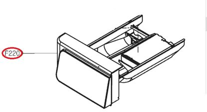 Obrázek Originální šuplík násypky AGL74333528 pro pračku LG