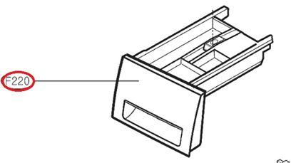 Obrázek Originální šuplík násypky AGL74433908 pro pračku LG