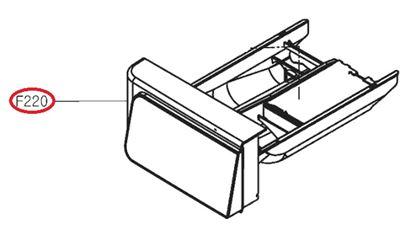 Obrázek Originální šuplík násypky AGL74333538 pro pračku LG