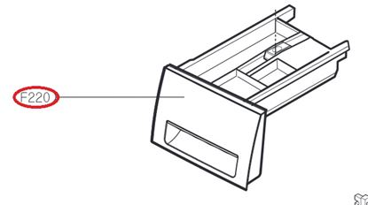 Obrázek Originální šuplík násypky AGL74433907 pro pračku LG