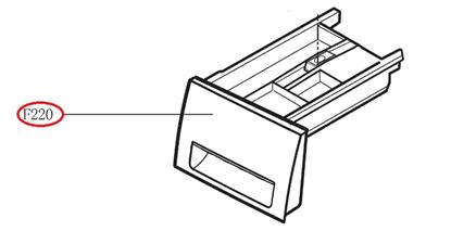 Obrázek Originální šuplík násypky AGL74032538 pro pračku LG