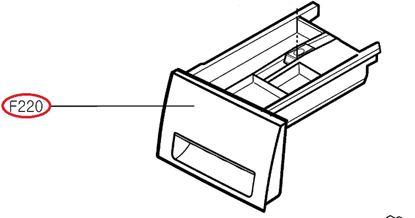Obrázek Originální šuplík násypky AGL73976446 pro pračku LG