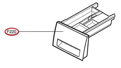 Obrázek Originální šuplík násypky AGL74258225 pro pračku LG