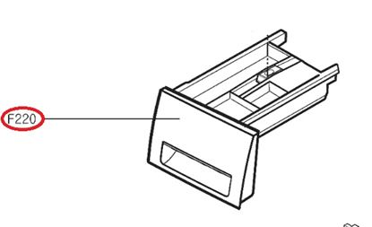 Obrázek Originální šuplík násypky AGL74258220 pro pračku LG