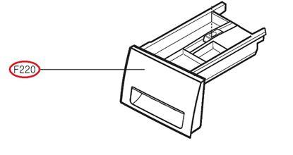 Obrázek Originální šuplík násypky AGL74258219 pro pračku LG