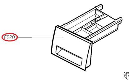 Obrázek Originální šuplík násypky AGL74275413 pro pračku LG