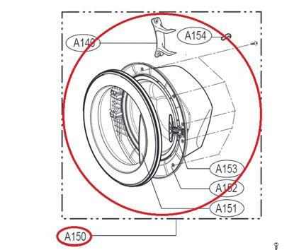 Obrázek Originální komplet dveří ADC74156303 pro pračku LG