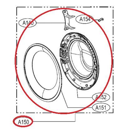 Obrázek Originální komplet dveří ADC74305501 pro pračku LG