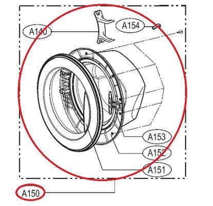 Obrázek Originální komplet dveří ADC69321504 pro pračku LG