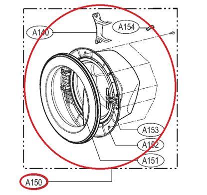 Obrázek Originální komplet dveří ADC69321507 pro pračku LG