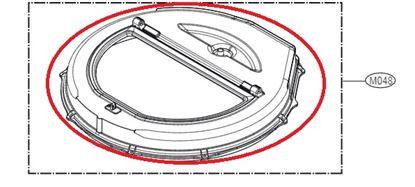 Obrázek Originální komplet dveří ACQ88884401 pro pračku LG