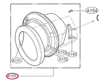 Obrázek Originální komplet dveří 3581EN1002Q pro pračku LG