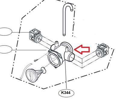 Obrázek Originální příruba čerpadla 3109EN2002A pro pračku LG