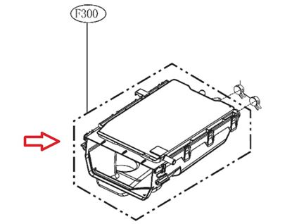 Obrázek Originální tělo násypky 4925EN1001Z pro pračku LG