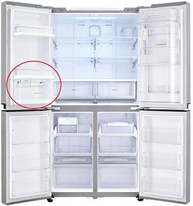 Obrázek Originální 2  přihrádka z vrchu  v levých části dveři pro lednici  LG AAP73811903